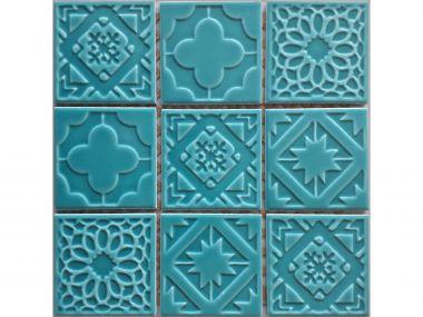 Turquoise Bliss Shiny Ceramic Mosaic - 300 x 300mm