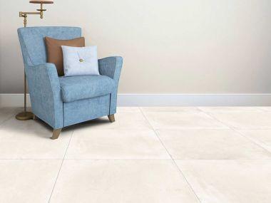 Futura District White Matt Glazed Porcelain Floor Tile - 600 x 600mm