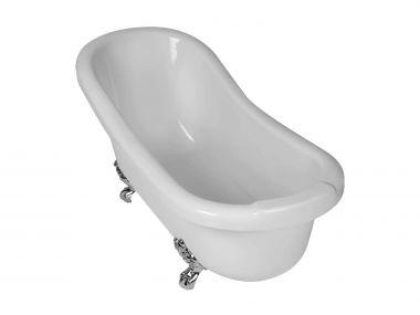 Slipper White Freestanding Bath With Feet - 1680 x 740mm