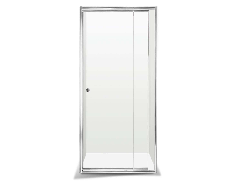 Crystaltech Chrome Inline Adjustable Pivot Shower Door Ct8001 800 To 1020 X 1850mm