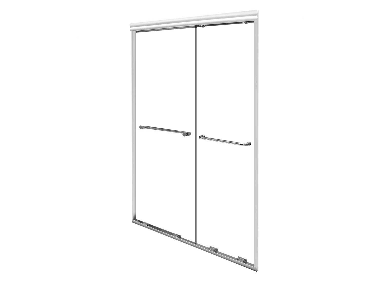 Crystaltech Walk In Bi Slider Matt Shower Door Ct8004 1200 1300 X 1900mm