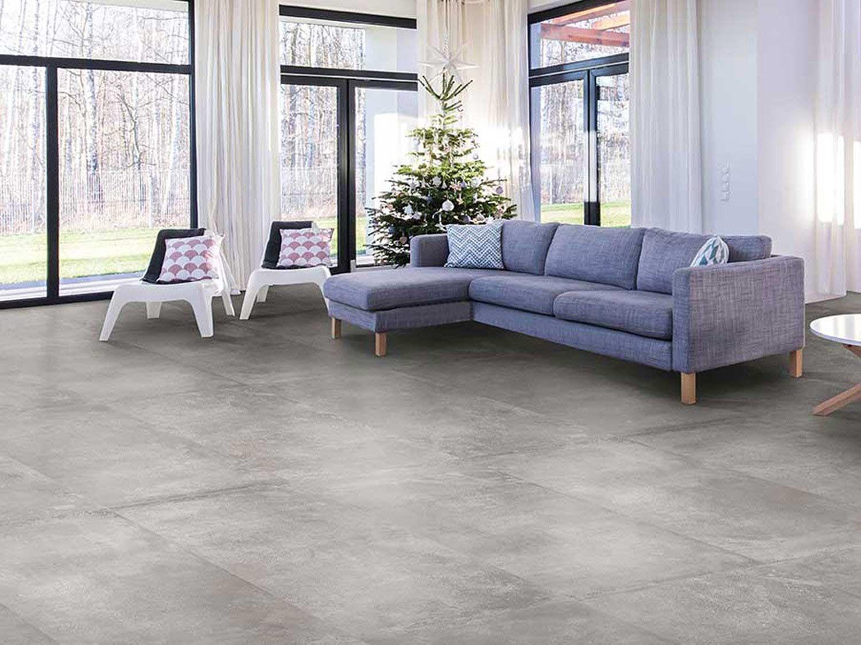 Mid Grey Matt Porcelain Floor Tile