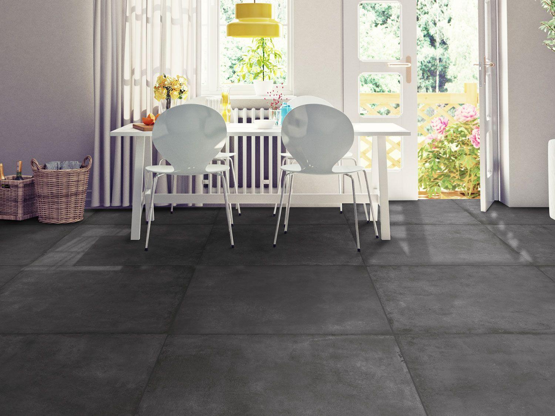 skyline charcoal matt glazed porcelain floor tile 800 x 800mm