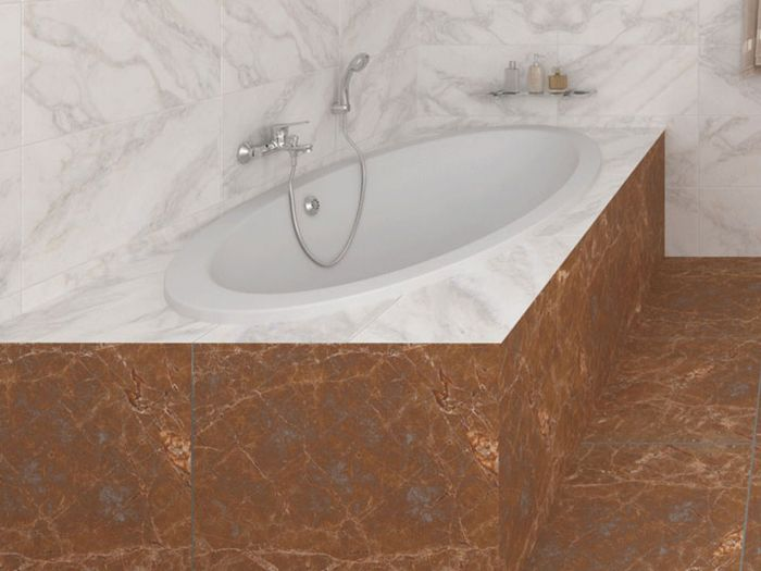 Arena White Built-in Oval Bath - 1800 x 960mm