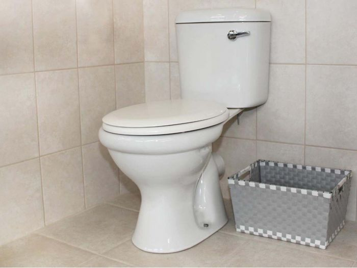 Coral White Front Flush Toilet Suite