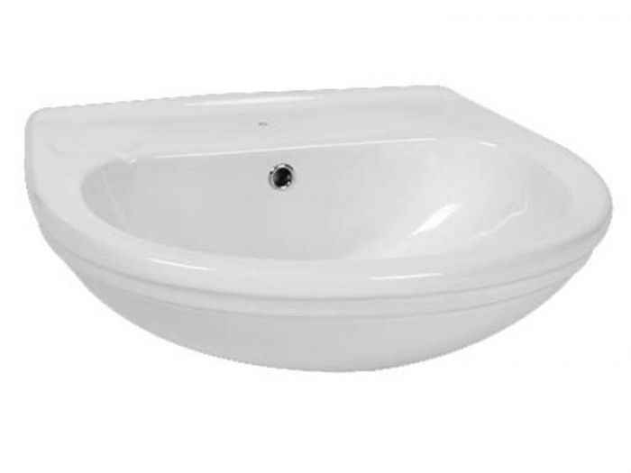 Constantia White Wall Mounted Basin - 515 x 605mm