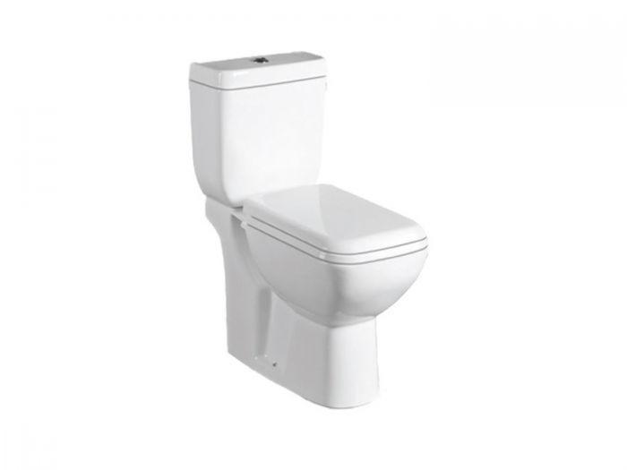 Boston White Dual Top Flush Toilet Suite