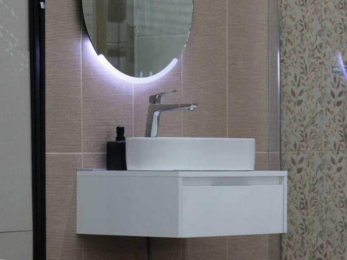 Trevi Aria Glossy White Vanity Cabinet - 600 x 460 x 220mm