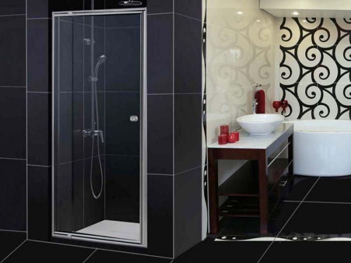 CrystalTech Chrome Inline Adjustable Pivot Shower Door - CT8001 - 800 to 1020 x 1850mm