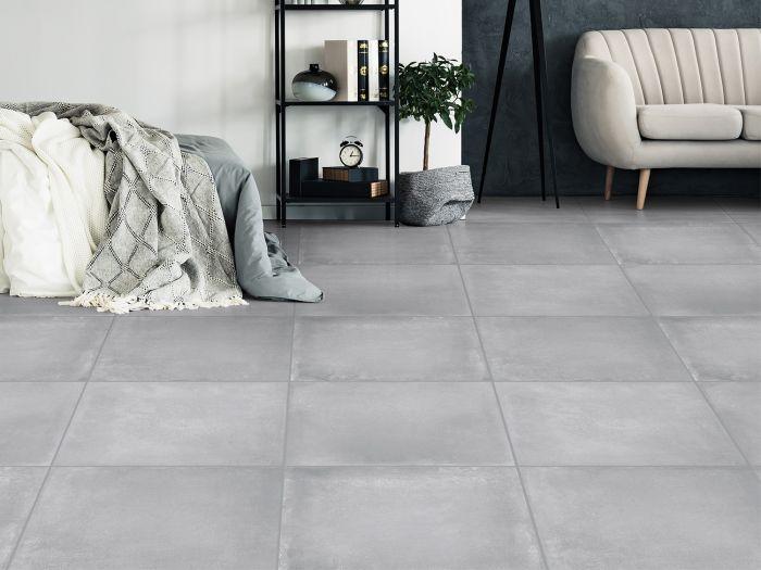 Starbuck Mid Grey EcoTec Glazed Porcelain Floor Tile - 600 x 600mm