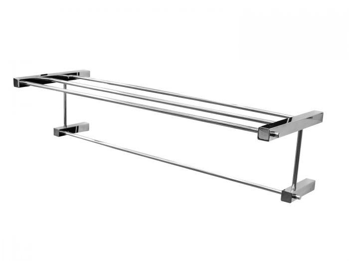 Portofino Lucia Stainless Steel Single Towel Shelf - 640mm