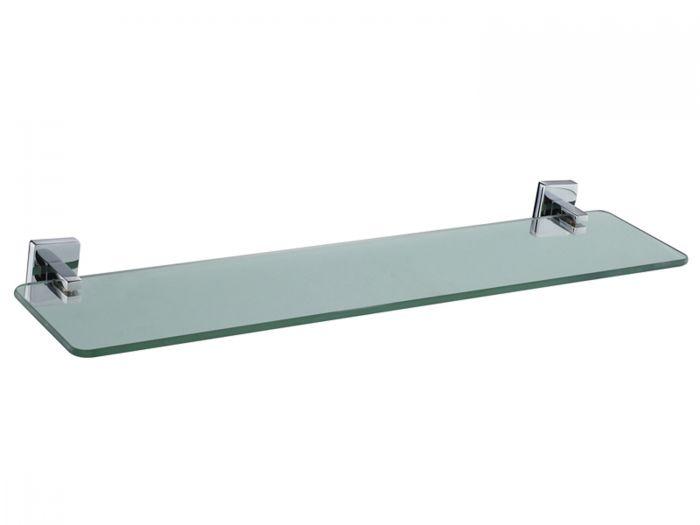 Urban Cube Chrome Glass Shelf - 500mm