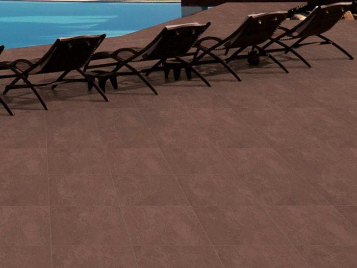 Kilimanjaro Kgalagadi Cotta EcoTec Slip Resistant Porcelain Floor Tile - 350 x 350mm
