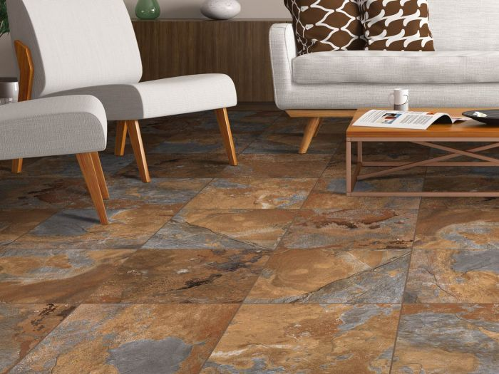 Kilimanjaro Mokala Slate Matt Porcelain Floor Tile - 420 x 420mm