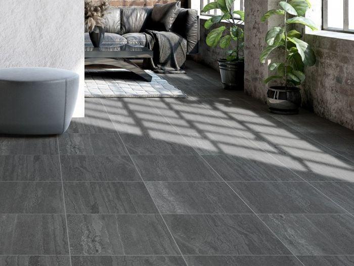Kilimanjaro Moremi Charcoal EcoTec Matt Porcelain Floor Tile - 420 x 420mm