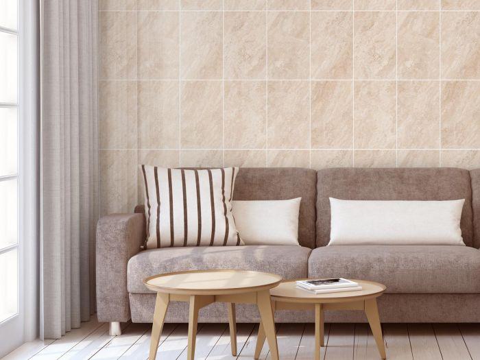 Lotus Ivory Shiny Finish Ceramic Wall Tile - 400 x 250mm
