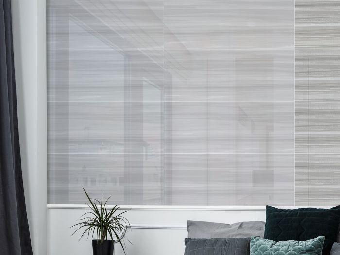 Serene Grey Shiny Ceramic Wall Tile - 800 x 265mm