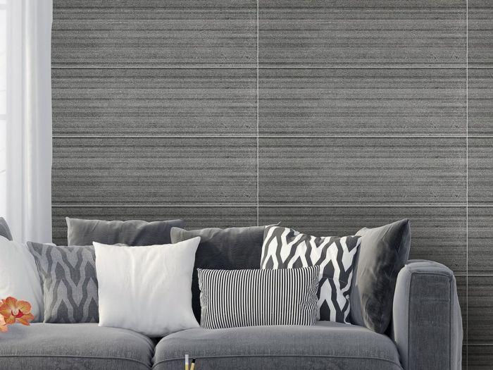 Stone Ridge Charcoal Matt Ceramic Wall Tile - 800 x 265mm